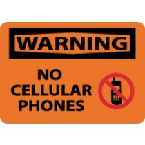 Warning No Cellular Phones Sign (#W456)