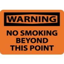 Warning No Smoking Beyond This Point Sign (#W458)