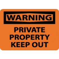 Warning Private Property Keep Out Sign (#W460)