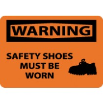 Warning Safety Shoes Must Be Worn Sign (#W462)
