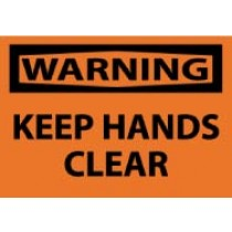 Warning Keep Hands Clear Machine Label (#W4AP)