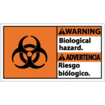 Warning Biological Hazard Spanish Sign (#WBA1)