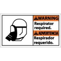 Warning Respirator Required Spanish Sign (#WBA2)