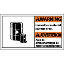 Warning Hazardous Material Storage Area Spanish Sign (#WBA3)