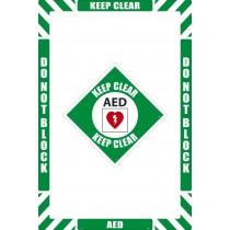 AED Floor Marking Kit