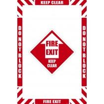 Fire Exit Floor Marking Kit