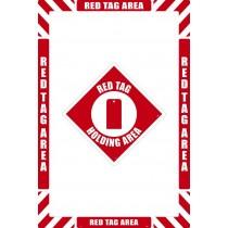 Red Tag Area Floor Marking Kit