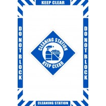 Cleaning Station Floor Marking Kit