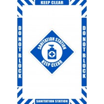 Sanitation Station Floor Marking Kit