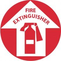 Fire Extinguisher Walk On Floor Sign (#WFS10)