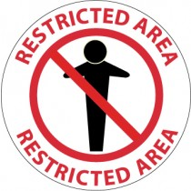 Restricted Area Walk On Floor Sign (#WFS11)