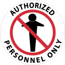 Authorized Personnel Only Walk On Floor Sign (#WFS14)