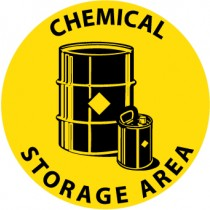 Chemical Storage Area Walk On Floor Sign (#WFS19)