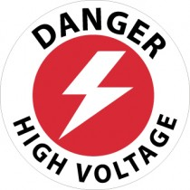 Danger High Voltage Walk On Floor Sign (#WFS23)
