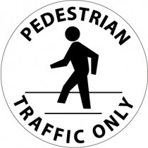 Pedestrian Traffic Only Walk On Floor Sign (#WFS28)