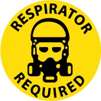 Respirator Required Walk On Floor Sign (#WFS31)