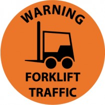 Warning Forklift Traffic Walk On Floor Sign (#WFS35)