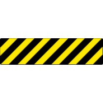 Black/Yellow Stripe Walk On Floor Sign (#WFS630)