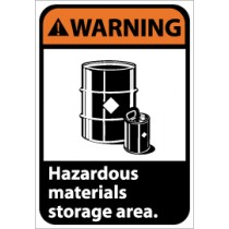 Warning Hazardous materials storage area. Machine Label (#WGA15AP)