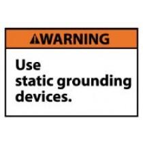 Warning Use static grounding devices. Machine Label (#WGA16AP)
