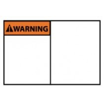 Warning Machine Label (blank) (#WGA20AP)
