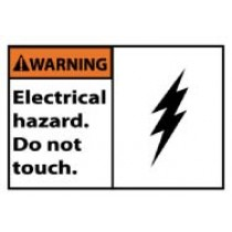 Warning Electrical hazard. Do not touch. Machine Label (#WGA22AP)