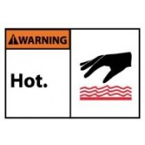 Warning Hot. Machine Label (#WGA25AP)