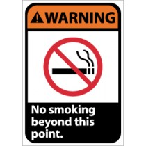 Warning No smoking beyond this point ANSI Sign (#WGA27)