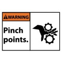 Warning Pinch points. Machine Label (#WGA32AP)