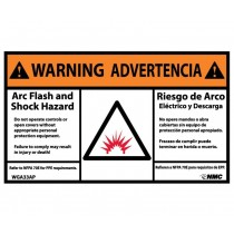 Arc Flash Warning Label (#WGA33AP)