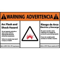 Arc Flash Warning Label (#WGA34AP)