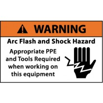 Arc Flash Warning Label (#WGA35AP)