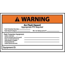 Arc Flash Warning Label (#WGA37AP)