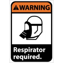 Warning Respirator required ANSI Sign (#WGA3)