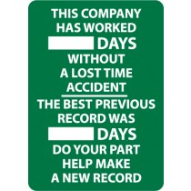 This Company Has Worked ____ Days… Write-On Scoreboard (#WS2)
